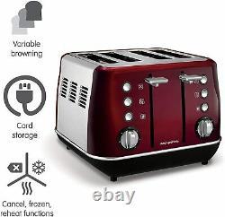 Morphy Richards Evoke Set Digital Microwave Kettle Toaster and Storage Set RED