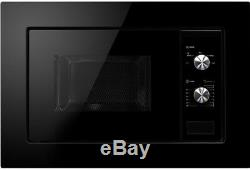 MyAppliances REF28615 Gloss Black Glass & S/Steel Built-in Microwave 20 Litres