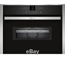 NEFF C17MR02N0B Built-in Combination Microwave Stainless Steel 14 auto cooking