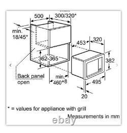 NEFF H53W50N3GB 800 Watt Microwave Built In Stainless RRP£409 NOW£199