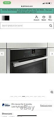 NEFF N70 B27CR22N1B Electric Oven £699 Stainless Steel
