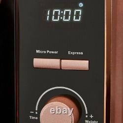 NEW Glitz Kettle, 4 Slice Toaster & 800w Digital Microwave Set Sparkling Pink