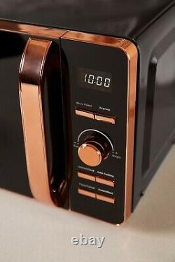 NEW Tower Rose Gold & Black 800W 20L Digital Microwave UK Stock 3 Year Guarantee