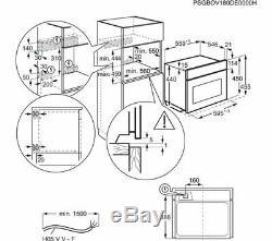 NEW ZANUSSI 60CM ZKK47901XK Built-in Compact Combi Microwave OVEN StainlessSteel