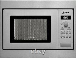 Neff H53W50N3GB 800W 17L Built-in Standard Microwave For A 50cm Wide H53W50N3GB