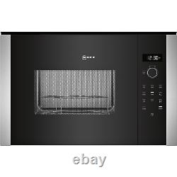 Neff N50 25L 900W Built-In Compact Microwave with Grill Stainless Steel