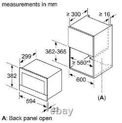 New Built In Stainless Steel NEFF C17GR00N0B N70 900 Watt Microwave RRP £749