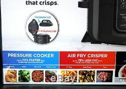 Ninja Foodi TenderCrisp 8-in-1 6.5-Quart Pressure Cooker Black OP300