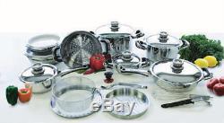 Nutri stahl saladmaster waterless cookware system 22 piece set