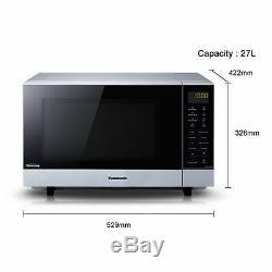 Panasonic NNSF464MBPQ 1000w Solo Microwave in Black & Silver
