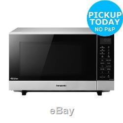 Panasonic NN-SF464M 27L 900W Flatbed Standard Microwave Stainless Steel. Argos