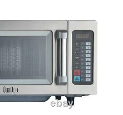 Quattro 1000w Power Commercial Catering Microwave Oven Flatbed Stainless Steel