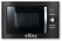 REFURBISHED Cookology BMOG25LNBH Built-in Combi Microwave Oven & Grill in Black