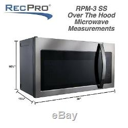 RV Microwave Over the Range Convection Oven 30 Stainless Steel 120V