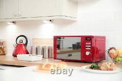 Red Russell Hobbs Set Microwave 4-Slice Toaster and Electric Jug Kettle Legacy