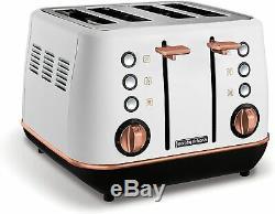 Rose Gold Kitchen Set Morphy Richards Microwave Jug Kettle & 4-Slice Toaster