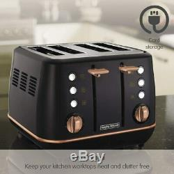 Rose Gold Morphy Richards Complete Set Jug Kettle Toaster Microwave Slow Cooker