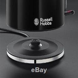 Russell Hobbs Black Colours Plus Kettle and Toaster & Microwave & Canisters New