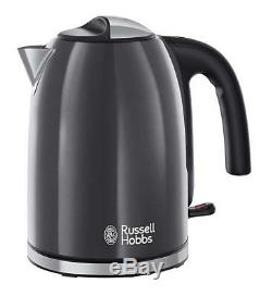 Russell Hobbs Colours Plus Kettle And Toaster Set & Heritage Grey Microwave New