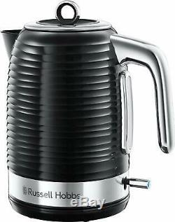 Russell Hobbs Inspire Kettle, 4 Slot Toaster and Microwave Black