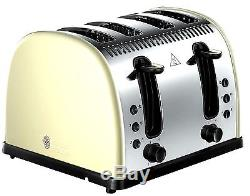 Russell Hobbs Microwave Kettle and Toaster Set Jug Kettle & 4-Slot Toaster Cream
