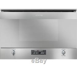 SMEG MP422X CUCINA Built-in Microwave Oven With Grill Stainless Steel Ha0439