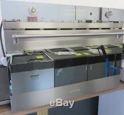 SMEG SC45MCSG2 60cmLinea Compact Combination Microwave Oven, Silver glass RRP£699