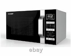 Sharp R360 900W 23L Flat Bed Standard Microwave Silver