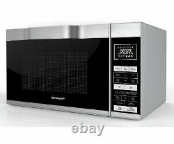 Sharp R861 900-1200W 25L Flat Bed Combination Microwave Silver