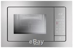 Smeg FME120 Built In 20 Litre Microwave and Grill Stainless Steel FA8206