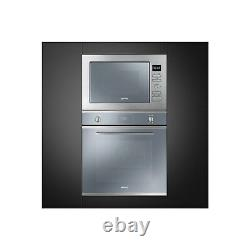 Smeg FMI425S Cucina 25L Built-in Microwave Oven And Grill Silver Glass