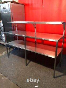 Stainless Steel Bench Table Work Surface Grill Stand Microwave Shelf Catering