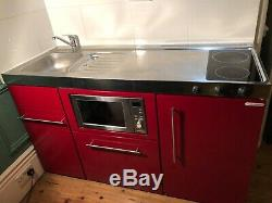 Standalone compact kitchen unit. Microwave oven &grill, dishwasher, fridge freezer