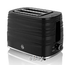 Swan Black 800w 20 Litre Digital Microwave 1.7 Litre Kettle 2 Slice Toaster