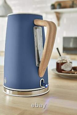 Swan Nordic 1.7 Litre Jug Kettle, 4 Slice Toaster & 800W Freestanding Microwave