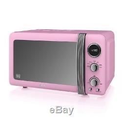 Swan Pink Digital Combi Microwave Dome Kettle & 2 Slice Toaster Set