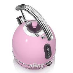 Swan Pink Digital Combi Microwave Dome Kettle & 4 Slice Toaster Set