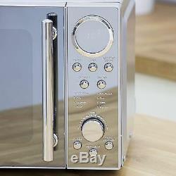 Swan Polished SS Set 20 L Digital Microwave, 1.7L Jug Kettle & 4 Slice Toaster