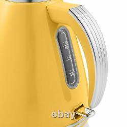 Swan Retro 1.5L Jug Kettle 3KW, 4 Slice Toaster 815W & 20L Digital Microwave Set