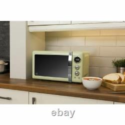 Swan Retro Digital 20L Microwave 800W Freestanding Countertop Five Power Levels