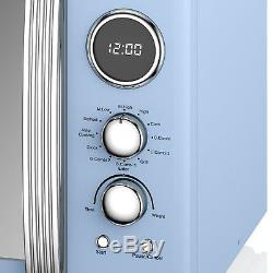 Swan Retro Digital Combi Microwave with Oven and Grill, 25 Ltr, 900 W Blue