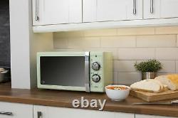 Swan Retro Manual 25L Microwave 900W 6 Power Levels 30 Minute Timer Freestanding