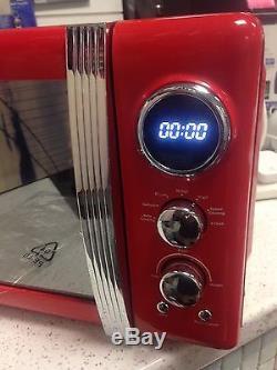 Swan SM22030RN 20L 800W Retro/Vintage Digital Microwave Red -N