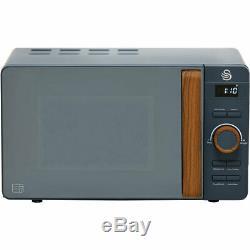 Swan SM22036GRYN Nordic 800 Watt Microwave Free Standing Grey