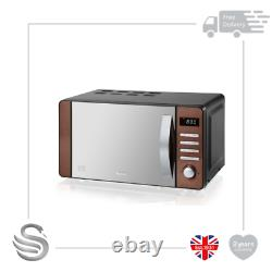 Swan SM22090COPN Digital Microwave, 800w, 20L, Copper- Brand New