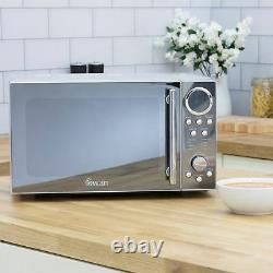 Swan SM3080N 800W 20 Litre Digital Solo Microwave 10 Power Levels Silver