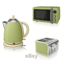 Swan STRP1050GN Kettle/Toaster and Microwave Kitchen Set in Green Brand New