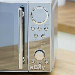 Swan Stainless Steel 800w Digital Microwave 1.7 Litre Jug Kettle 2 Slice Toaster