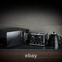 Swan Symphony Black 1.7L Jug kettle, 20L Microwave & 4 Slice Toaster Set -NEW