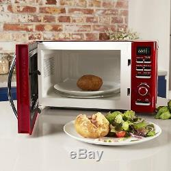 TOWER RED DIGITAL Microwave, 1.8L 3kW PYRAMID Kettle & a Red 2 Slice Toaster